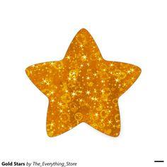 Gold Stars Star Sticker