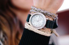 Comfortable, unique & easy to stack with other arm candy!  We love stacking LoilJ with other colors or with a cute watch, or other bracelets. . What is stacked on your arm with LoilJ?