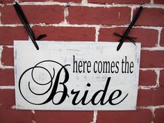10 x 16 Wooden Wedding Sign  Double Sided  by JolieMaeCollections, $30.00
