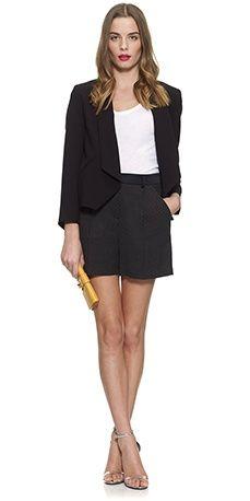 High waist shorts with a blazer