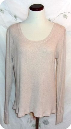 Faded Glory Womens Top Size Extra Large Tan Long Sleeve Cotton #FadedGlory #KnitTop #CareerCasual #Fashion #Clothing #Womens #Top #SizeXL