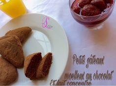 Petits gâteaux moelleux au chocolat et lait concentré