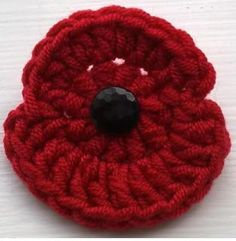 Cottage Crafts: Crocheted Remembrance Poppies