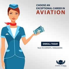 Choose an  Exceptional Career In Aviation - Vision Aviation Academy. Call: 7090226999 #Airline #Airport #Hotel #Travel #Tourism #AirHostess #Aviation #CabinCrew #FlightAttendant