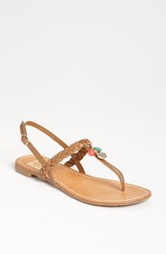 Dolce Vita 'Doris' Sandal in tan with just a hint of color