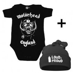 Are you looking for a special Infant shower Gift? This giftset contains: * Motörhead Onesie infant/baby * Loud & Proud Hat Free rockin' giftwrapping and a copy of our pocket Inspiration Book are included Kid Check, Metal Shop, Baby Body, Mini, Onesies, Infant, Inspiration, Shopping, Clothes