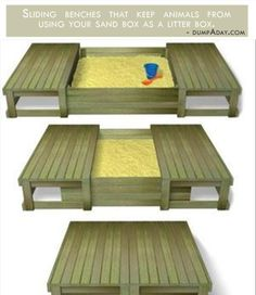 sandbox with sliding cover