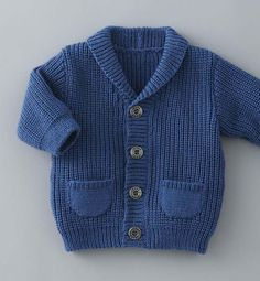 Knitting kids from Phildar Baby Boy Knitting Patterns, Baby Cardigan Knitting Pattern, Knitting Machine Patterns, Knitted Baby Cardigan, Baby Clothes Patterns, Knitting For Kids, Baby Patterns, Toddler Cardigan, Cardigan Bebe