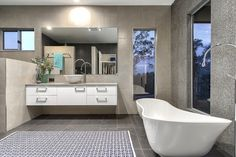 Luxe by Design supplied the Victoria + Albert Cabrits bath for the Mitchelton Residence project by A & K Designer Build, Brisbane.