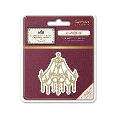 Downton Abbey - Die Bastelkollektion von Crafters Companion zur Fernseh-Serie  Maße: 2,4 x 2,4 '' (60 mm x 60 mm)  Stanzschablone - Chandelier - DA-MD-CHAN erhältlich bei www.3dkarten.eu