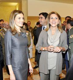 Cospedal anfitriona de la Princesa Leticia en su visita a Toledo (Octubre 2012)