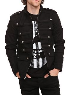 Mens Steampunk Clothing & Costumes for Sale: Tripp Black Guard Jacket $66.75    #steampunk