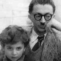Sadegh Hedayat and Roozbeh, son of Sadegh Choubak