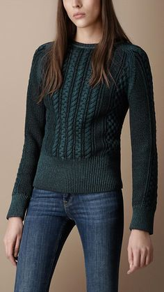 Cable Knit Sweater | Burberry Fall Sweaters, Sweaters For Women, What Is Fashion, Warm Outfits, Knit Fashion, Cable Knit Sweaters, Sweater Shirt, Knitwear, Women Wear