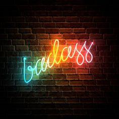 Badass Rainbow Neon Sign by potatopug