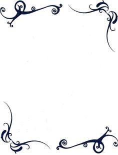 Marcos elegantes para word - Imagui