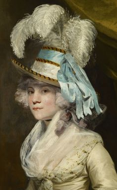 ▴ Artistic Accessories ▴ clothes, jewelry, hats in art - Joshua Reynolds | Lady Taylor (detail)
