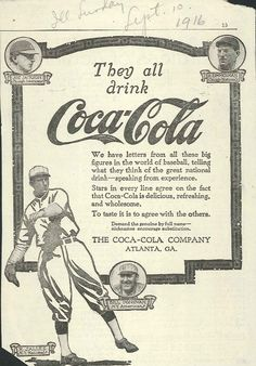 1916 Cole Ad (Baseball Greats)