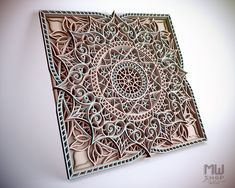 The multilayer mandala is an original, unique and creative design for your ideas! You can use it for home decor, wall decor or as a gift for your friends and loved ones. Digital mandala files are specially prepared for the laser cut, CNC router machine and other cutting machines. PLEASE NOTE! This is a digital product! No physical products will be sent to you! You will receive a 1 ZIP folder that contains the following file formats: - DXF - DWG - CDR - EPS - AI - SVG (each mandala layer in a sep Laser Cut Wood, Laser Cutting, Cnc Router Machine, Thing 1, Creative Design, Paper Art, Mandala, Templates, Pattern