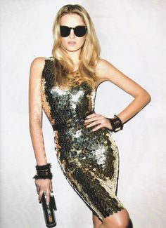 Lily Donaldson by Terry Richardson for Harper's Bazaar Brazil, March 2012