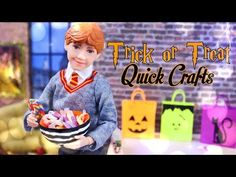 by request: Today at My Froggy Stuff make these Spooktacular DIY Trick or Treat with Froggy! Trick or treat bags, Candy and Candy Bowls! Barbie Doll House, Barbie Dolls, Barbie Stuff, Doll Stuff, Diy Barbie Furniture, Barbie Miniatures, Halloween Fairy, Barbie Clothes Patterns, Quick Crafts
