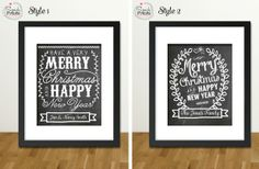 Personalized Holiday Chalkboard 8x10 Prints 60% off at Groopdealz
