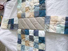 Découpe de la doublure du sac motif petits carrés - DIY Sac motif petits carrés patchwork parfumdecouture.com