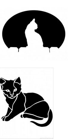 stencil cat lantern