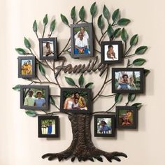 Unique Family Tree Collage Picture Frames, Set of 10 – EUR € Family Tree Wall Decor, Family Tree Picture Frames, Family Tree With Pictures, Family Tree Photo, Frame Wall Decor, Frames On Wall, Picture Wall, Photo Wall, Family Photos