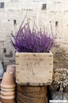 Vintage Wooden box with stamp, would like to have a planter like this with lavender like this.