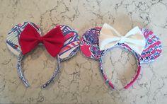 DIY Minnie Ears #lillypulitzer # lillyears #disneystyle