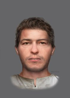 Hayley Fisher - The reconstructed face of a Century man found at a crypt in Edinburgh. He has suffered a violent death British Kingdom, Forensic Facial Reconstruction, Collections D'objets, Anthropologie, Celtic Culture, Effigy, Forensics, Dark Ages, Weird World