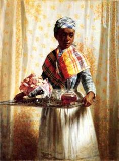 American Women: Women Working & a Few Other Paintings of African Americans by Thomas Waterman Wood (American painter, American Women, African American History, Afro, Black Artwork, Black Image, Portraits, African Art, Black History, Female Art