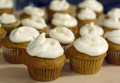 21 Pumpkin Recipes for Fall: Pumpkin Cupcakes With Cream Cheese Frosting >> http://www.hgtvgardens.com/recipes/pumpkin-recipes?soc=pinterest&s=3