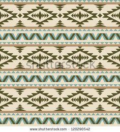 Seamless aztec pattern on light background - stock vector