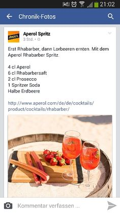 Rhabarber Aperol Spritz