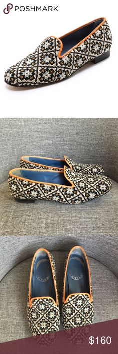 Penelope Chilvers Dandy Needlepoint Slippers RV $400 purchased from shopbop. Amazing needlepoint loafers in great condition. Only worn a few times. Made in Spain. Size 36 Penelope Chilvers Shoes Flats & Loafers