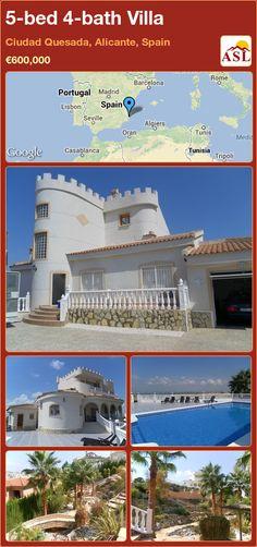 5-bed 4-bath Villa in Ciudad Quesada, Alicante, Spain ►€600,000 #PropertyForSaleInSpain