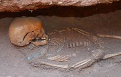 child buried with necklace: Beautiful Pyramids of Sudan   Sedeinga Archaeology  The skeleton grows through the surface instead of the surface just sitting on top.