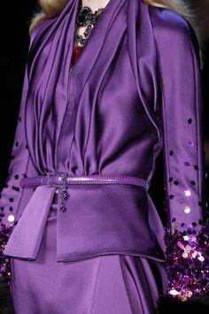 Christian Dior at Paris Fashion Week Fall 2007 - Details Runway Photos Purple Love, All Things Purple, Purple Lilac, Shades Of Purple, Purple Dress, Deep Purple, Purple Satin, Glamorous Chic Life, Or Violet
