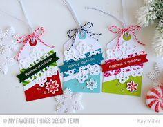Cozy Mittens, Winter Wonderland, Cozy Mittens Die-namics, Pierced Snowflakes Die-namics, Tag Builder Blueprints 1 Die-namics - Kay Miller  #mftstamps