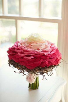 Composite rose bouquet created using rose petals.