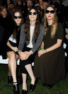 Our favourite girl band Haim front row at #Topshop #Unique #SS14 at #LFW today!
