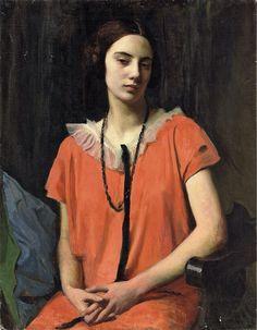 The Orange Dress, 1926, George Spencer Watson