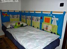 """Obrovský zateplený kapsář do """"L"""" za postel Vláček Toddler Bed, Sewing, Baby, Furniture, Home Decor, Fashion, Scrappy Quilts, Gift, Bags"""