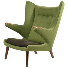 Hans Wegner Papa Bear Chair | From a unique collection of antique and modern wingback chairs at https://www.1stdibs.com/furniture/seating/wingback-chairs/
