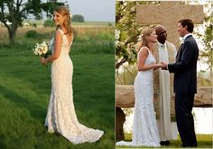 Jenna Bush's wedding! Love the dress and the cross they had made for the outdoors wedding ceremony! :)