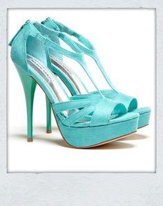 aqua heels. I love it!