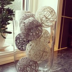 Cottonballs i en stor vase :-)