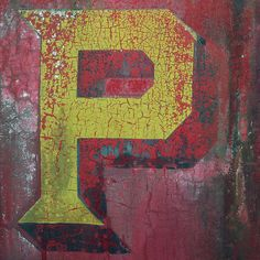 Crackled Letter P